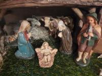 Der Hirte musiziert für die Heilige Familie.