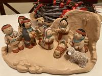 Indianische Darstellung der Geburt Christi.